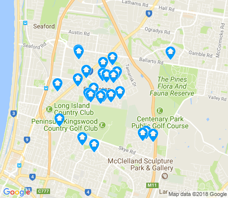 map of Frankston North apartments for rent