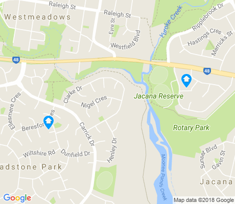 map of Gladstone Park apartments for rent