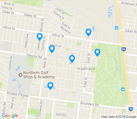 map of Hadfield apartments for rent