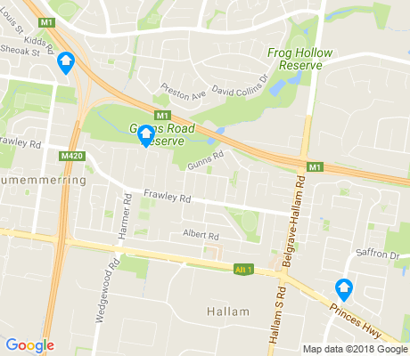 map of Hallam apartments for rent