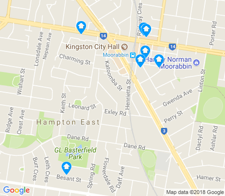 map of Hampton East apartments for rent