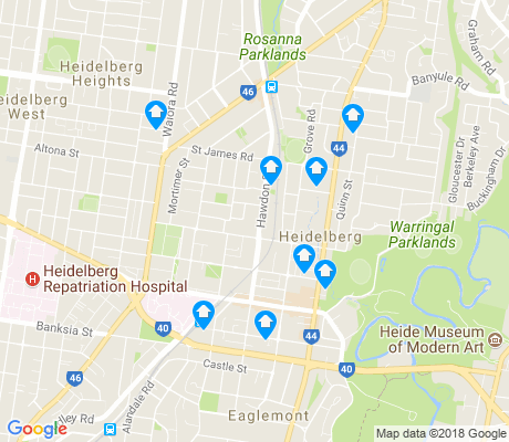 map of Heidelberg apartments for rent