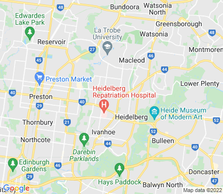 map of Heidelberg Heights apartments for rent