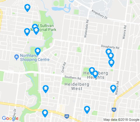 map of Heidelberg West apartments for rent
