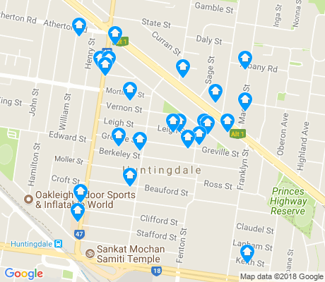 map of Huntingdale apartments for rent