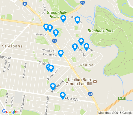map of Kealba apartments for rent
