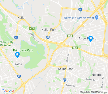 map of Keilor East apartments for rent