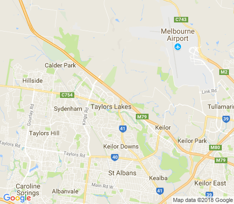 map of Keilor Lodge apartments for rent