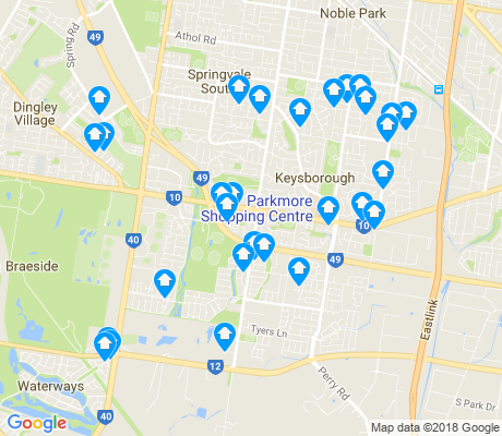 map of Keysborough apartments for rent