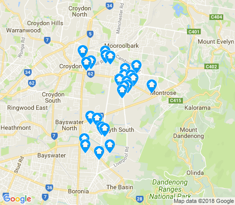 map of Kilsyth apartments for rent