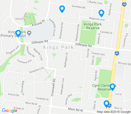 map of Kings Park apartments for rent