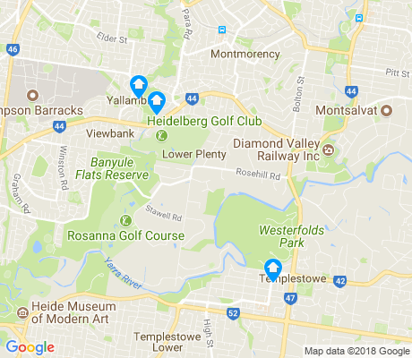 map of Lower Plenty apartments for rent