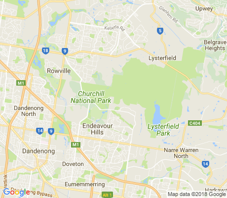 map of Lysterfield South apartments for rent