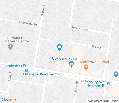 map of Malvern apartments for rent