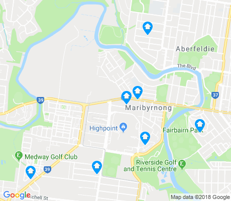 map of Maribyrnong apartments for rent