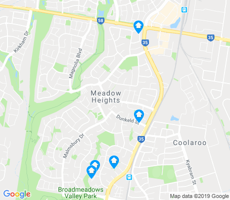 map of Meadow Heights apartments for rent