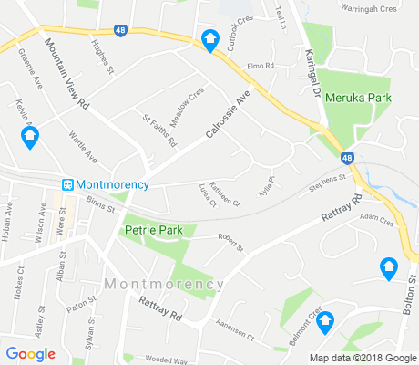 map of Montmorency apartments for rent