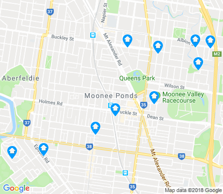 map of Moonee Ponds apartments for rent