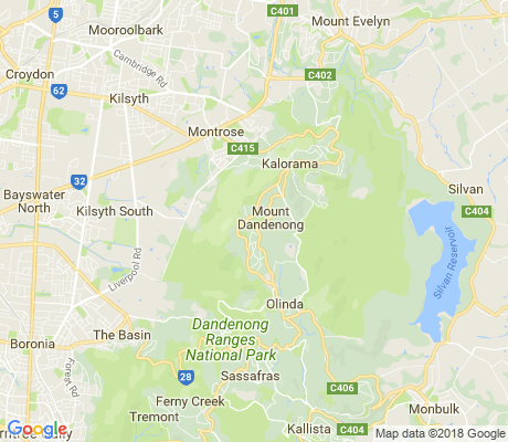 map of Mount Dandenong apartments for rent