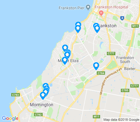 map of Mount Eliza apartments for rent