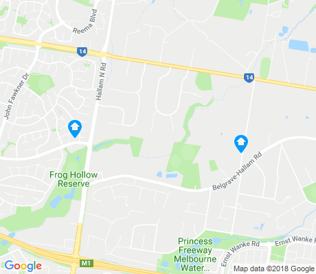 map of Narre Warren North apartments for rent