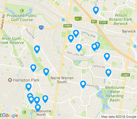 map of Narre Warren South apartments for rent