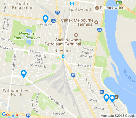 map of Newport apartments for rent