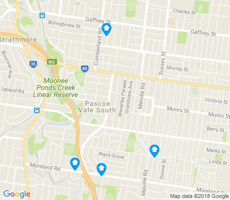 map of Pascoe Vale South apartments for rent