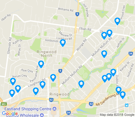 map of Ringwood North apartments for rent
