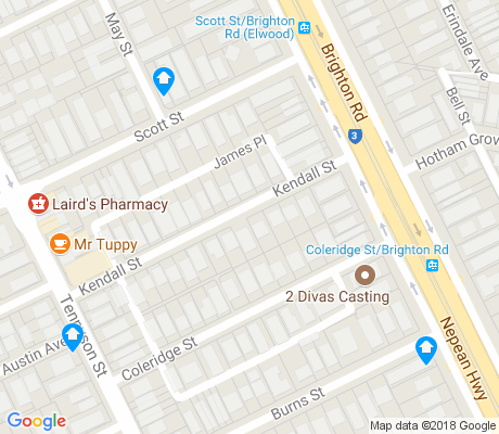 map of Ripponlea apartments for rent