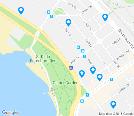 map of St Kilda West apartments for rent