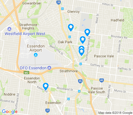 map of Strathmore apartments for rent