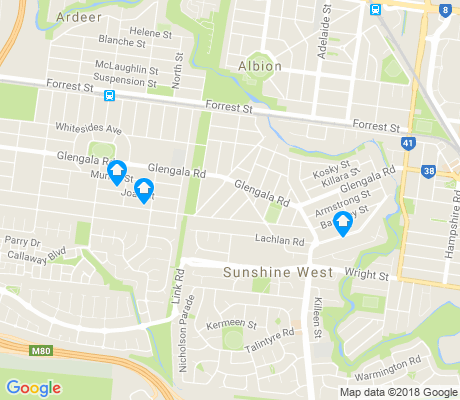 map of Sunshine West apartments for rent