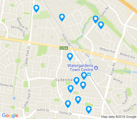 map of Sydenham apartments for rent