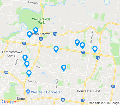 map of Templestowe apartments for rent
