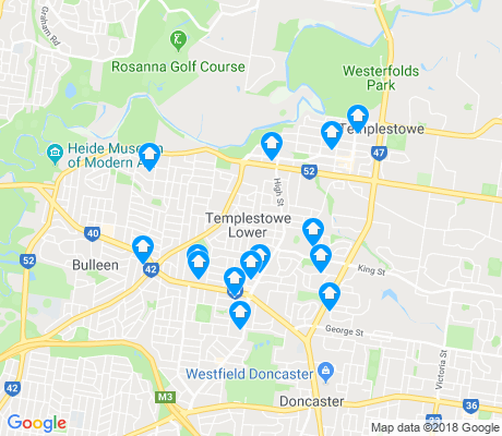 map of Templestowe Lower apartments for rent