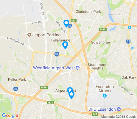 map of Tullamarine apartments for rent