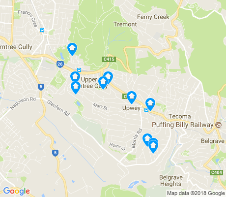 map of Upwey apartments for rent