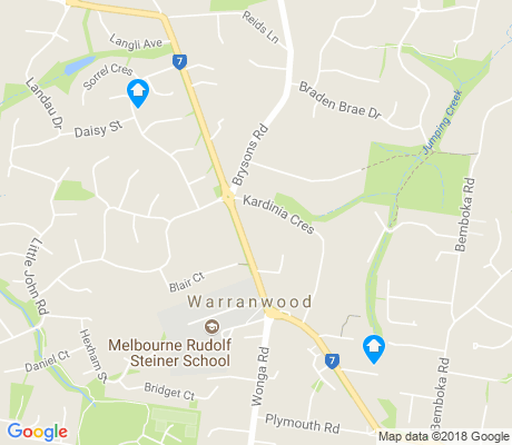 map of Warranwood apartments for rent