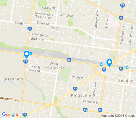 map of West Footscray apartments for rent