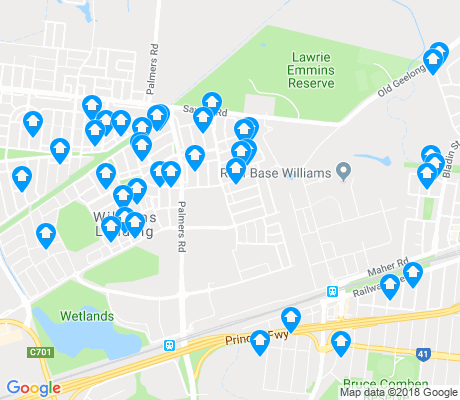 map of Williams Landing apartments for rent
