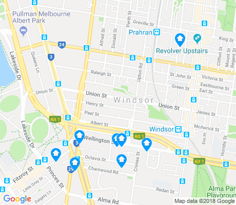 map of Windsor apartments for rent