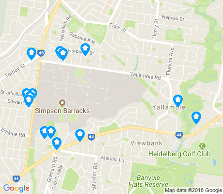 map of Yallambie apartments for rent