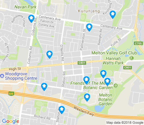 map of Melton apartments for rent
