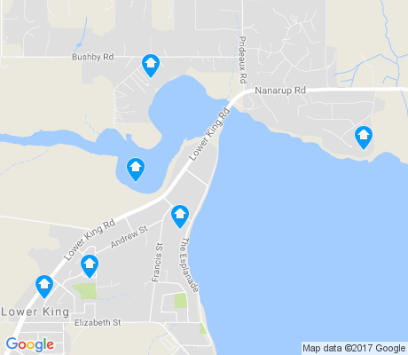 map of Lower King apartments for rent