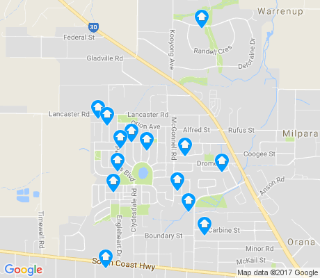 map of McKail apartments for rent