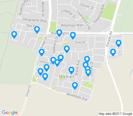 map of Usher apartments for rent