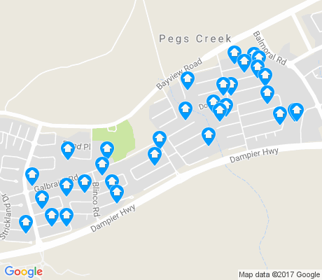 map of Pegs Creek apartments for rent
