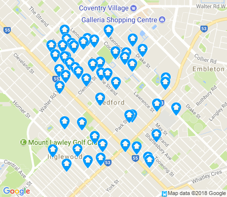 map of Bedford apartments for rent