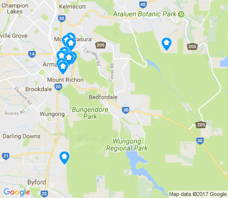 map of Bedfordale apartments for rent